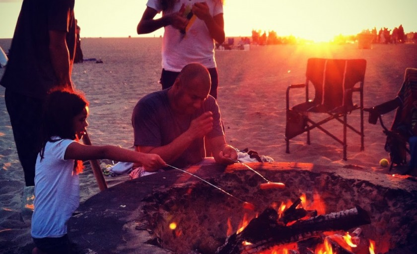 End of summer fun with friends