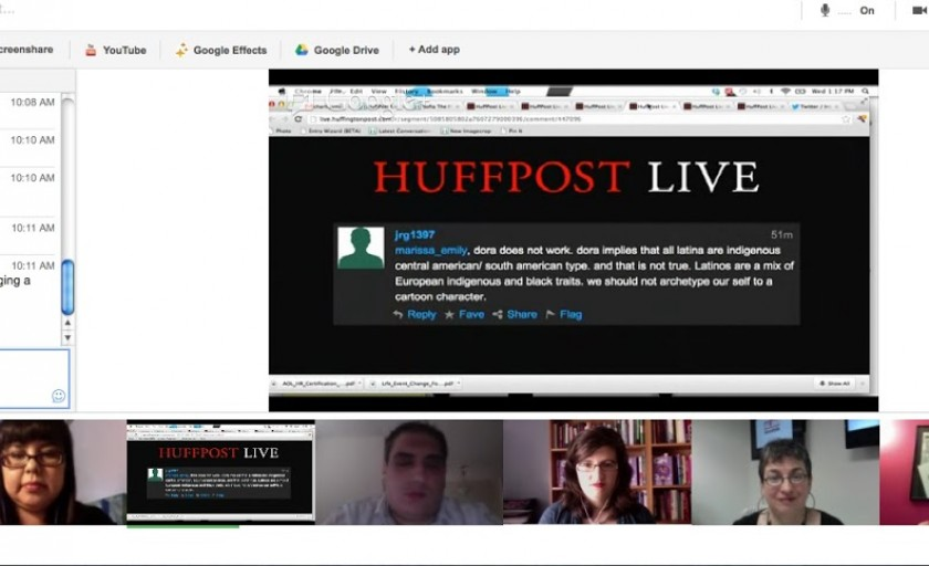 Talking about Latinas on HuffPost Live today