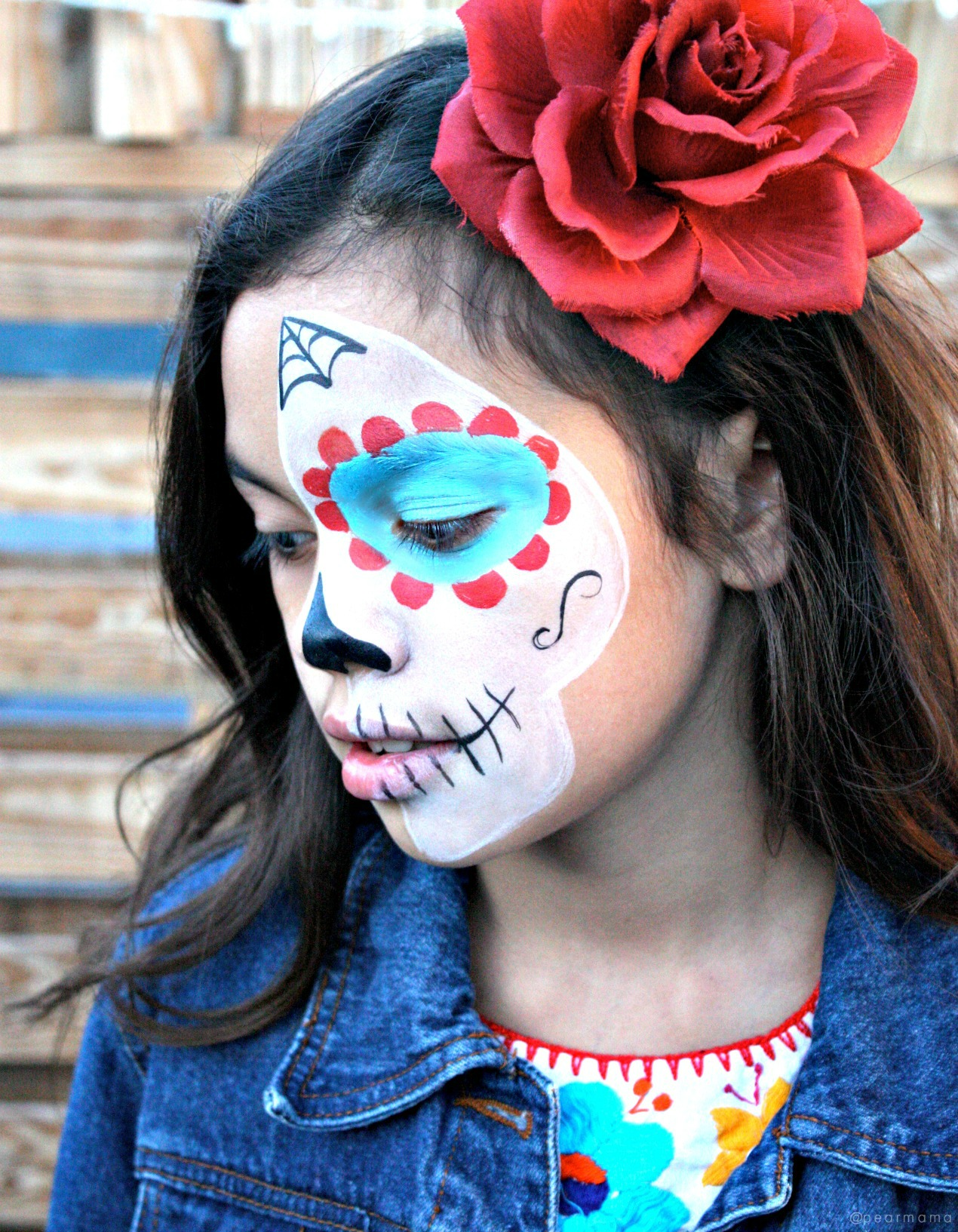 Video Sugar Skull Makeup For Kids Pearmama - Day-of-the-dead-makeup-tutorial-video