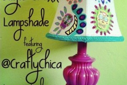 DIY: Sugar Skull Lampshade