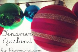 Make Your Own DIY Ornament Garland