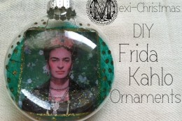 DIY Frida Kahlo Christmas Ornaments