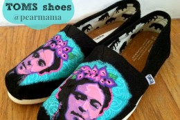 Paint Your Own Frida Kahlo TOMS shoes