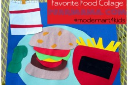 Kids craft: Favorite Food Collage