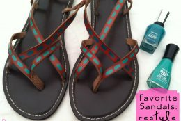 Restyle Your Favorite Sandals with Nail Polish