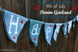 4th of July Denim Garland