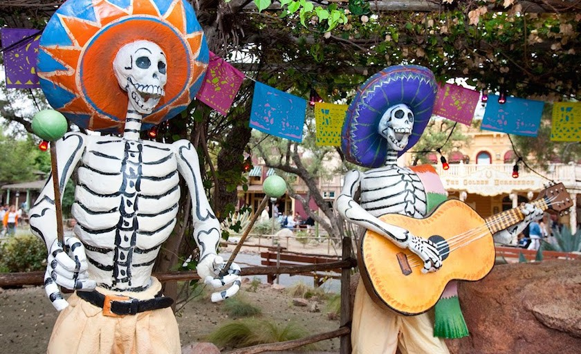 Celebrating Dia de los Muertos at Disneyland during Halloween