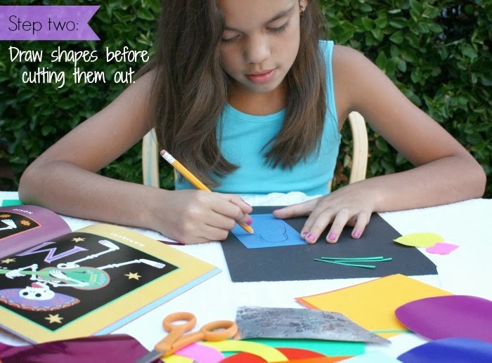 Create your own Dia de los Muertos art collage with your kids.
