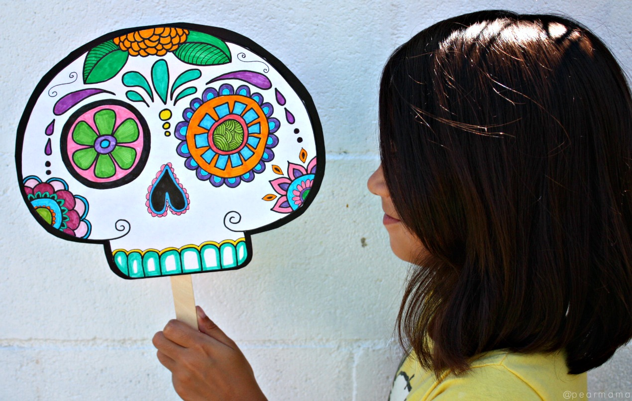 Day of the Dead is the time of year to honor our loved ones who passed before us. Make this fun diy sugar skull mask from the free Ofrendas eBook.