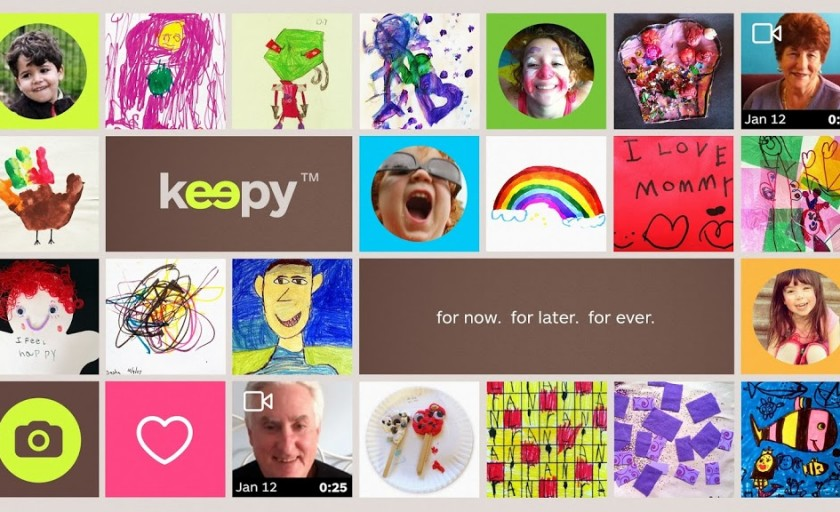 Keepy app is perfect for saving your child's art