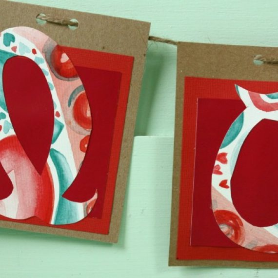 Valentine DIY: How to make a watercolor garland