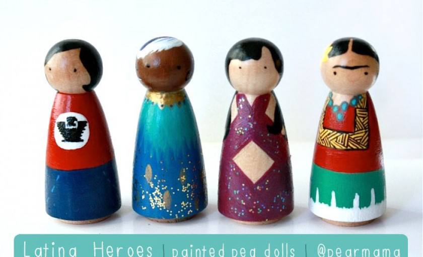 Latina Heroes: Painted Peg Dolls