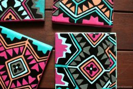 DIY: Aztec-inspired Tile Coasters