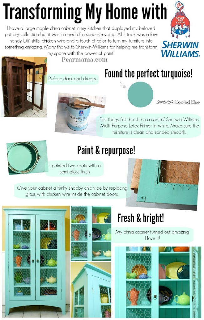 diy-painted-china-cabinet-turquoise-sherwin-williams-pearmama