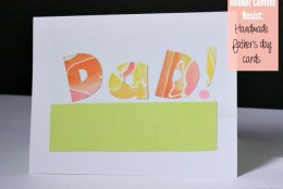 DIY: Rubber Cement Resist Father's Day cards