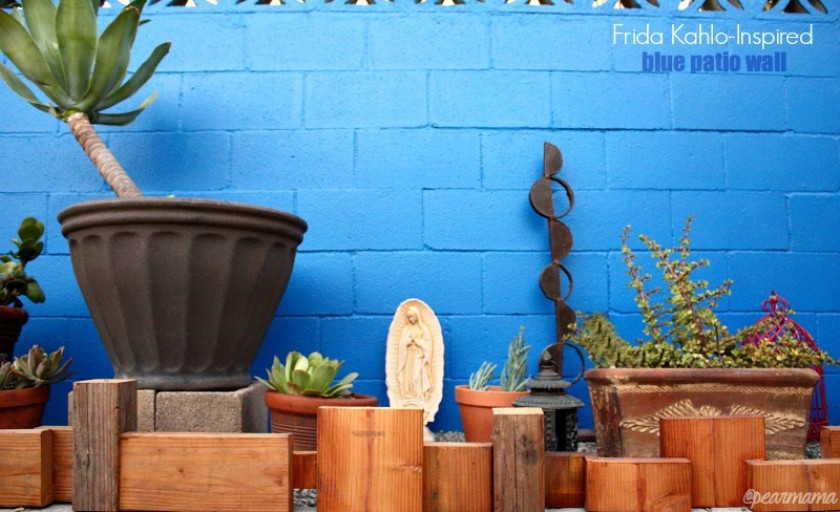 Frida Kahlo-Inspired: Blue Patio Wall