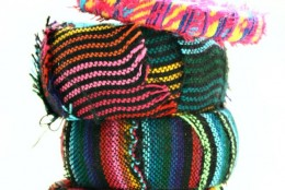 DIY: Mexican Fabric-Wrapped Bangles
