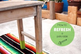 How to: Refresh a Patio Table