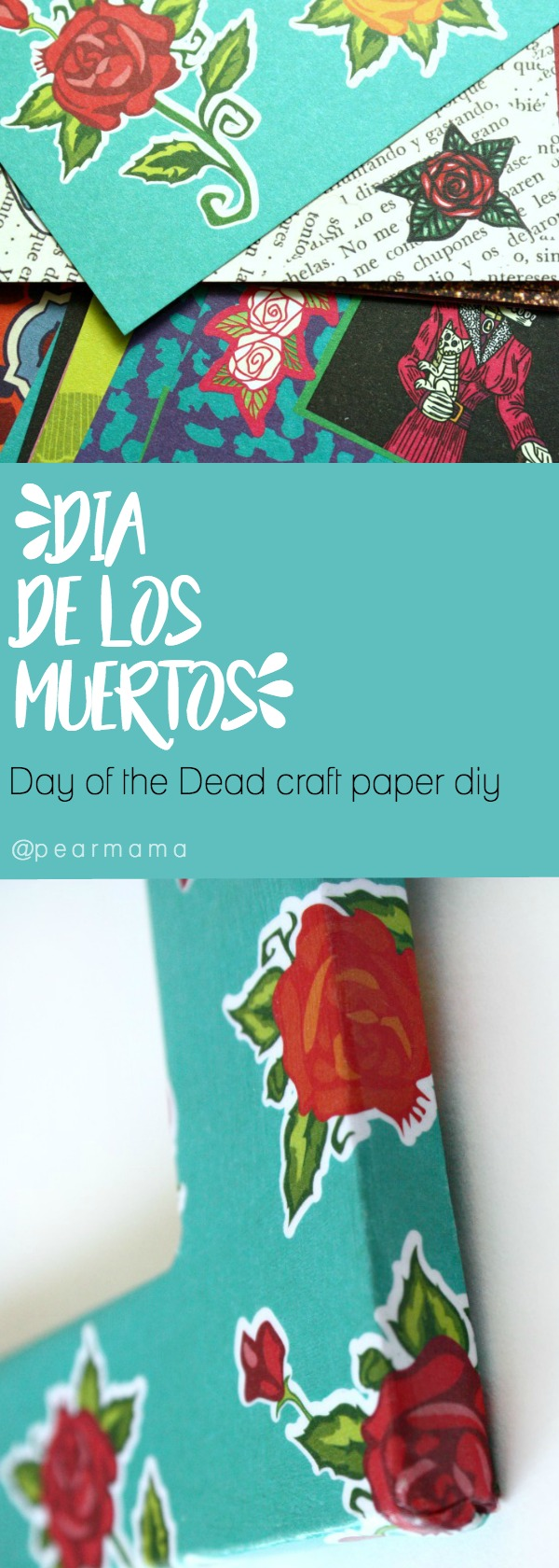 How to use crafty chica day of the dead craft paper pearmama here are three different ways to use the day of the dead craft paper from crafty jeuxipadfo Image collections