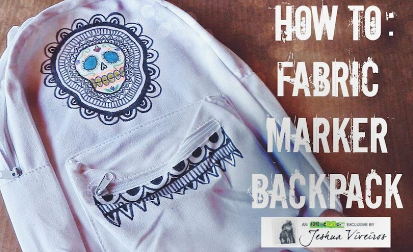 Video: Make your own Sugar Skull Backpack