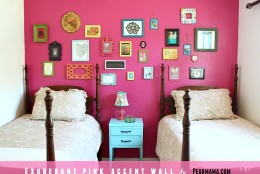 Think Pink: Exuberant Pink Accent Wall