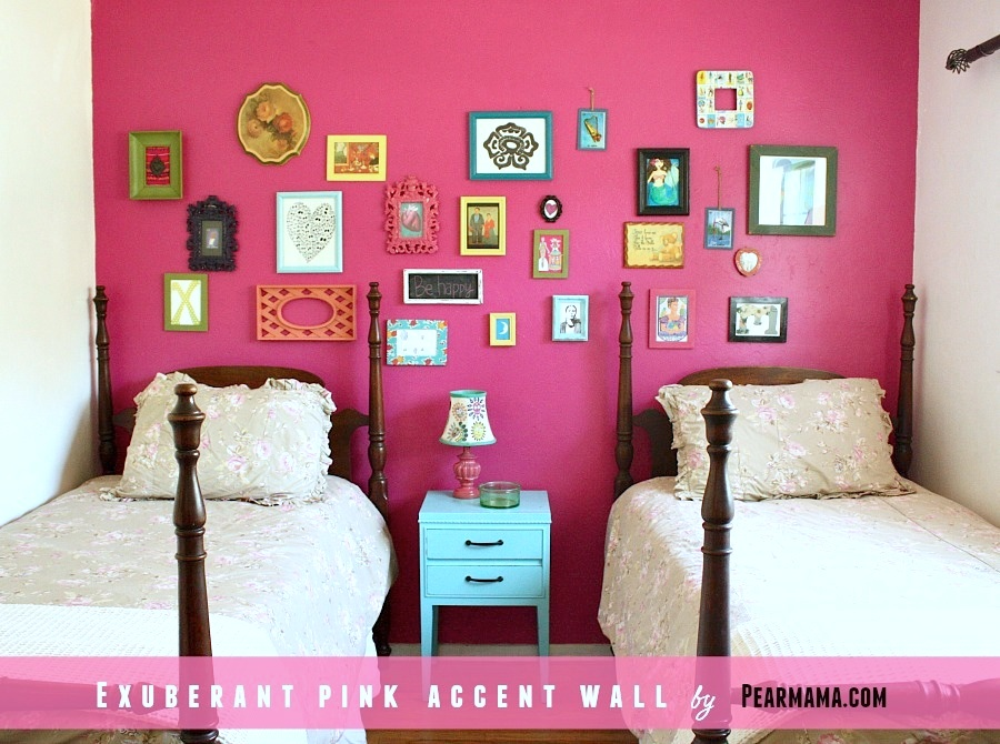 Pink Accent Wall think pink: exuberant pink accent wall | pearmama