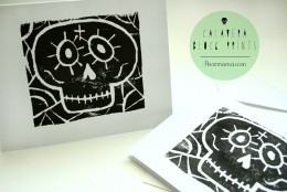 DIY: Calavera Block Prints