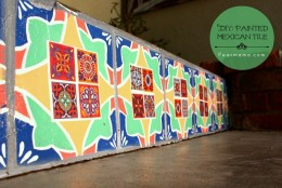 "Make Your Own: Painted Mexican ""Tile"""