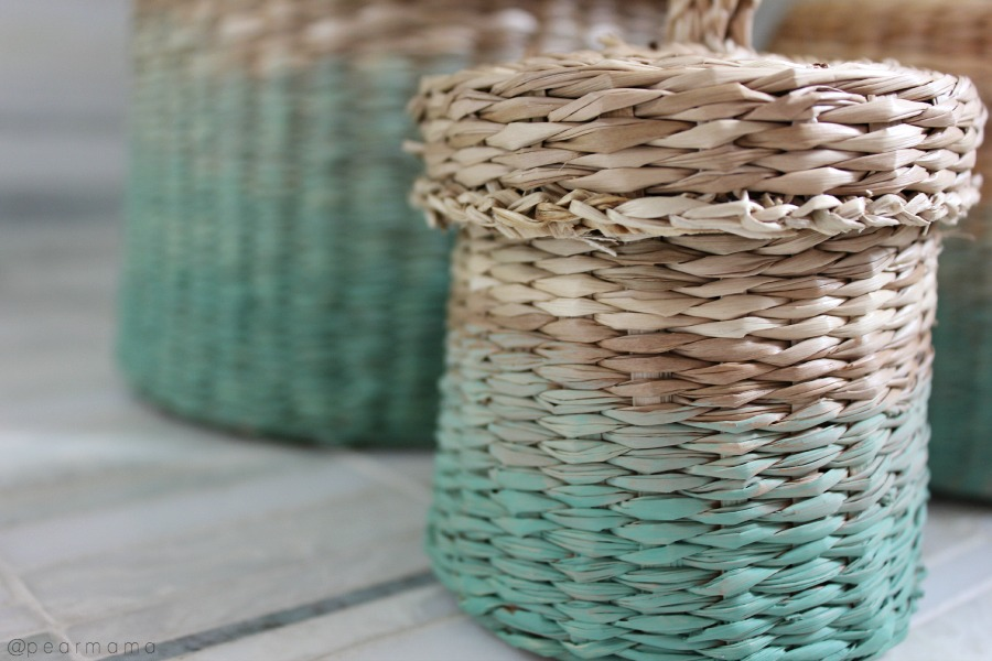 ikea-hack-painted-baskets-green-ombre
