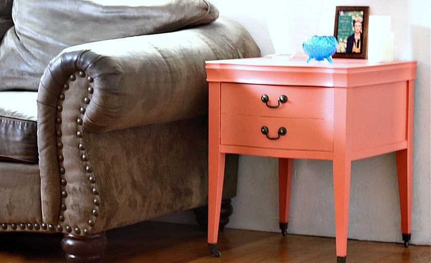 DIY: Transform a vintage side table with color