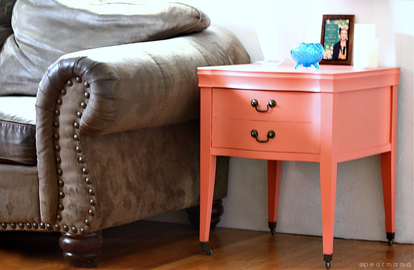 DIY Transform a vintage side table with color Pearmama