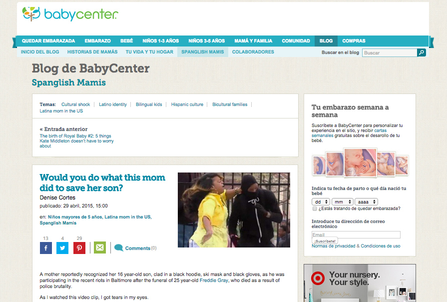 Police brutality makes this mom step in to save her son on BabyCenter en Espanol.