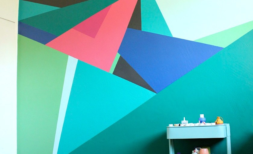 Paint this: Geometric Wall Design