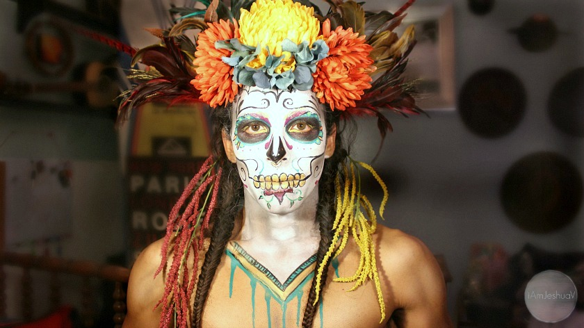 Video: How to paint your own sugar skull makeup for Dia de los Muertos.