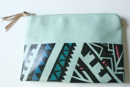DIY: Geometric Clutch Bag