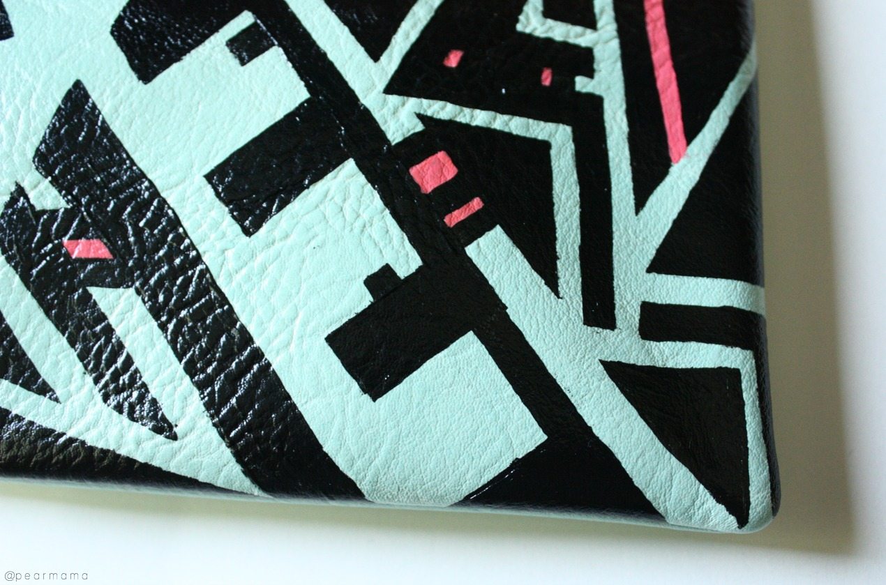 geometric-painted-clutch-detail
