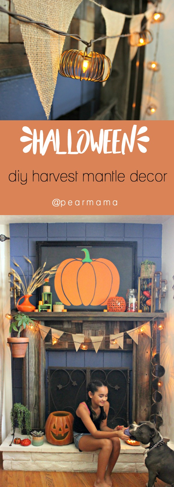 Check out this year's Halloween Style Challenge: I decorated a cool boho harvest mantle that was put together from of a box of goodies Home Depot sent me.