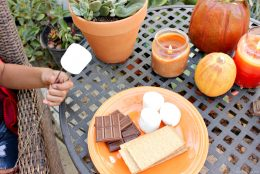 Halloween time: S'mores + fire pit ghost stories