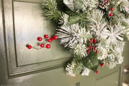 Holiday DIY: Paint a Festive Front Door