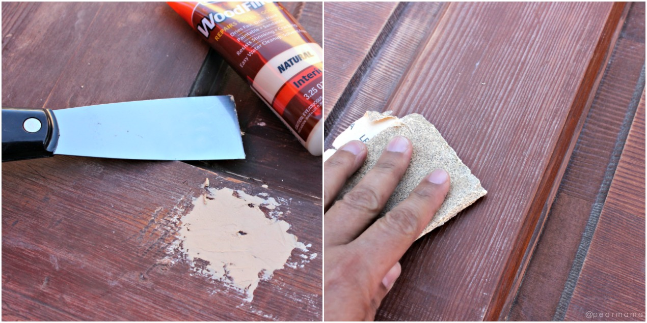 sanding-wood-filler-door