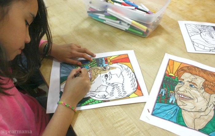 Printable celebrating cesar chavez pearmama for Cesar chavez coloring page